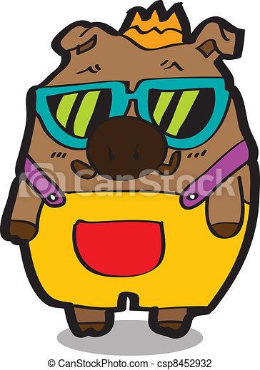 funny boar cartoon - csp8452932