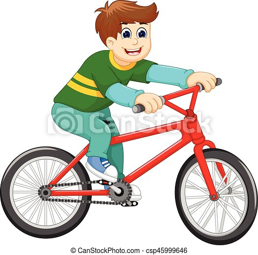 Vector illustration of funny boy cartoon riding bicycle. ab9b53a8a642