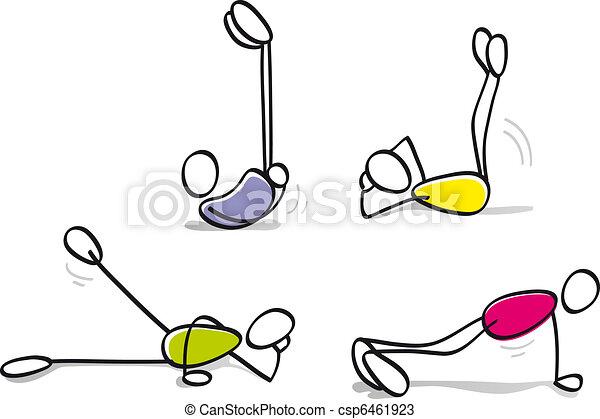 funny boys doing fitness - csp6461923