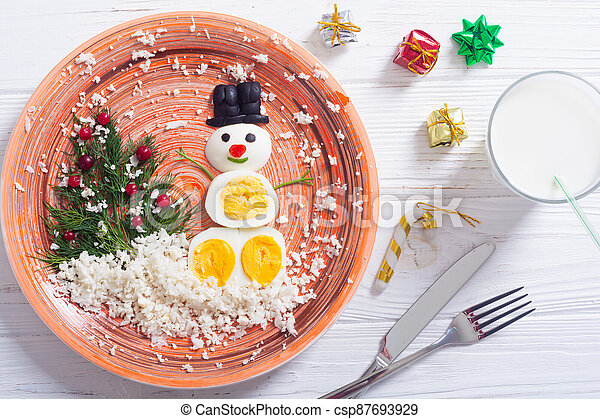 Funny breakfast for kids - csp87693929