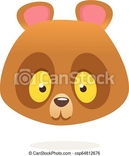 Funny brown teddy bear cartoon - csp64812676