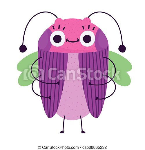 funny bug cartoon icon in isolated style - csp88865232