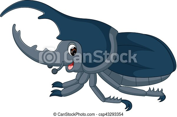 funny bug Hercules cartoon - csp43293354