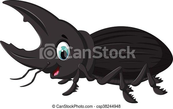 funny bug Hercules cartoon - csp38244948