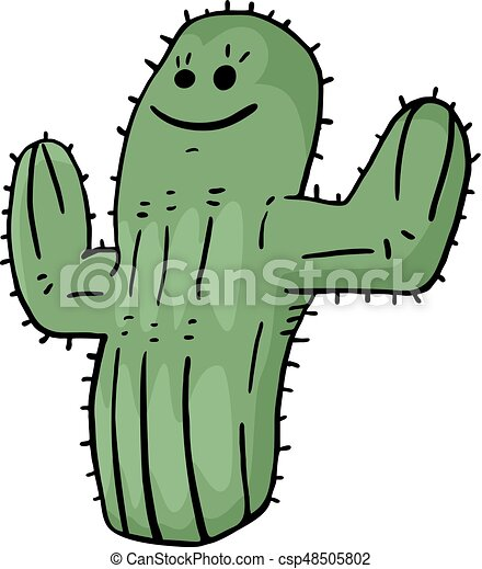 creative design of funny cactus vector clipart search illustration rh canstockphoto com cactus vector png cactus illustration vector