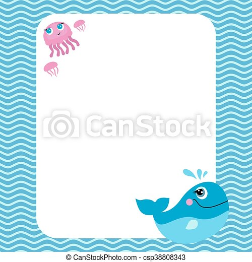 Funny card with empty space for tex - csp38808343