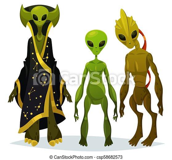 Funny Cartoon Aliens