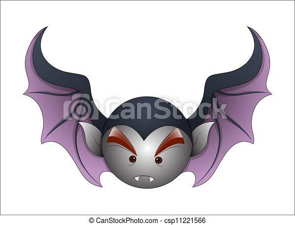 Funny Cartoon Bat - csp11221566