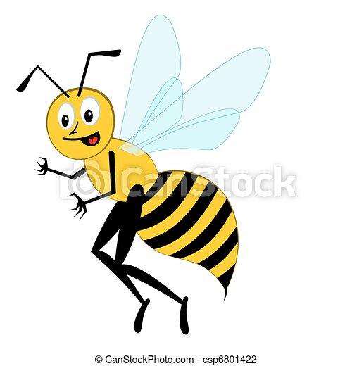 Funny cartoon bee - csp6801422