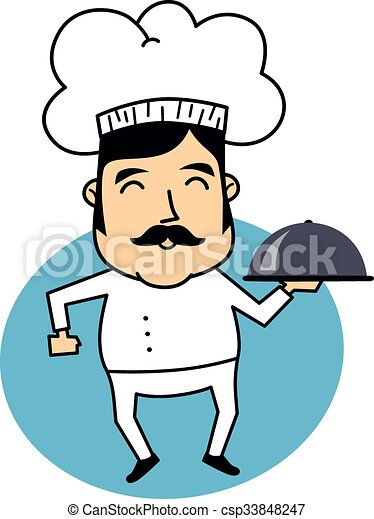 funny cartoon chef theme vector art illustration eps vector search rh canstockphoto com chef hat clipart free free chef clipart images