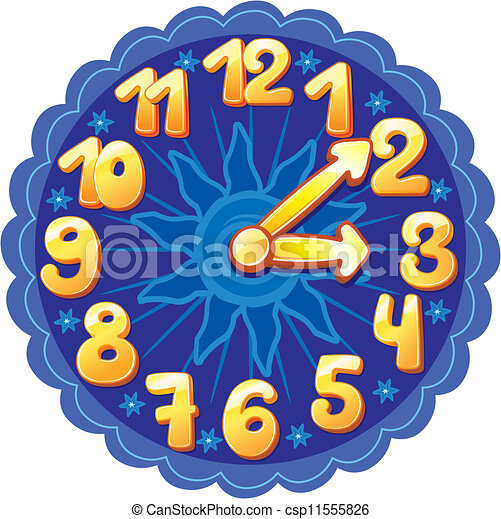 Funny cartoon clock for kids vector illustration - Search Clipart ...