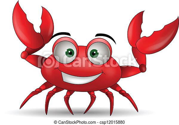funny cartoon crabs - csp12015880