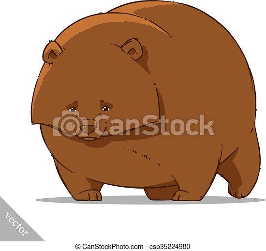 funny cartoon cute bear illustration - csp35224980