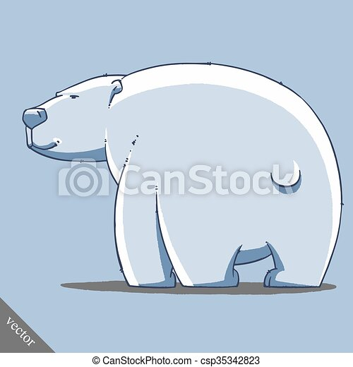 funny cartoon cute bear illustration - csp35342823