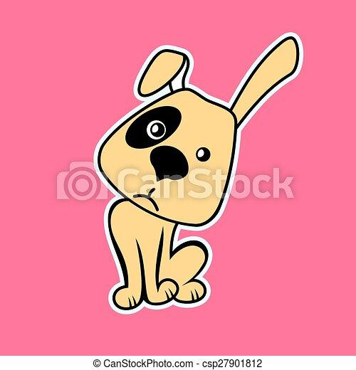 Funny Cartoon Dog. Vector illustration - csp27901812