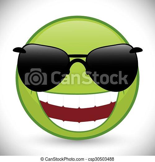 Funny cartoon face - csp30503488