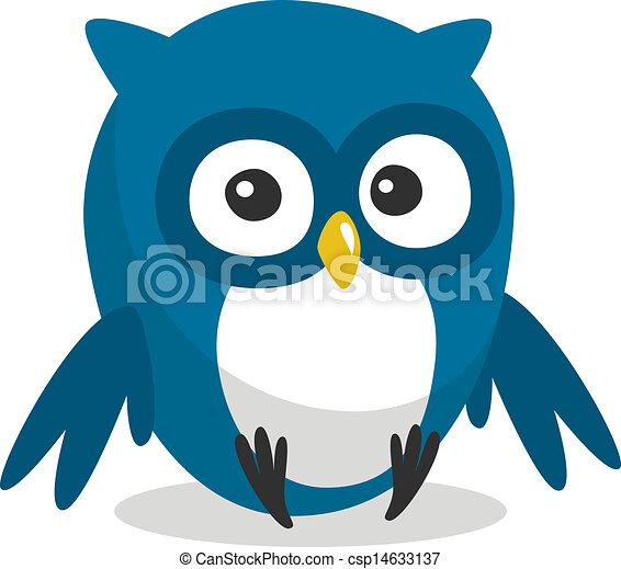 Funny cartoon owl - csp14633137