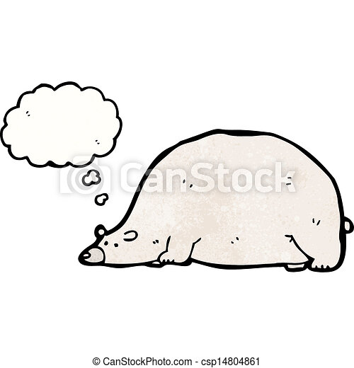 funny cartoon polar bear - csp14804861