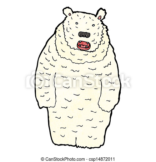 funny cartoon polar bear - csp14872011