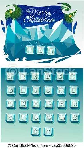 Funny Cartoon shine icy - csp33809895