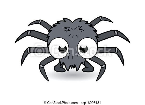 funny cartoon spider halloween csp16096181 - Cartoon Halloween Drawings