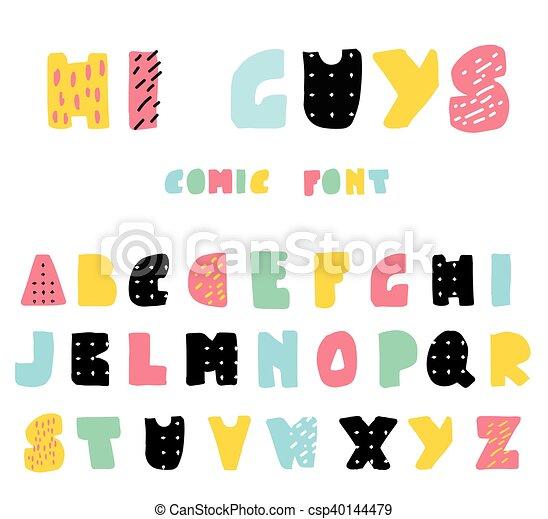 Funny cartoon style abc funny and cute cartoon style alphabet in funny cartoon style abc csp40144479 m4hsunfo