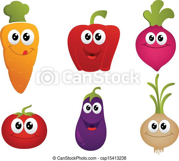 funny cartoon vegetable - csp15413238