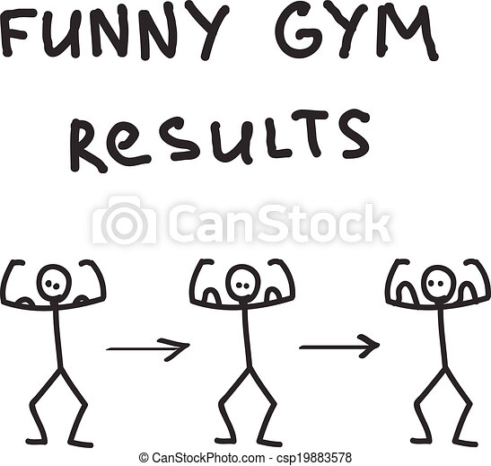 Funny character illustrated gym results - csp19883578