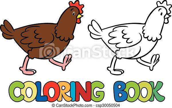Funny chicken coloring book