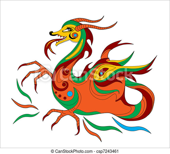 funny chinese dragon is symbol of calendar 2012 vector clip art rh canstockphoto com chinese dragon clipart images chinese dragon clipart black and white