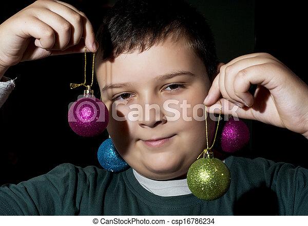 Funny christmas boy - csp16786234
