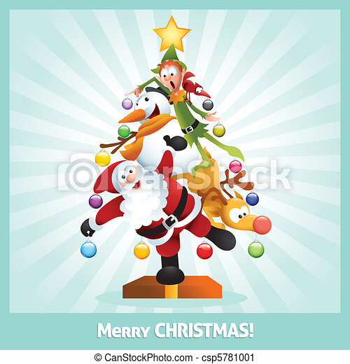 funny christmas card cartoon collage