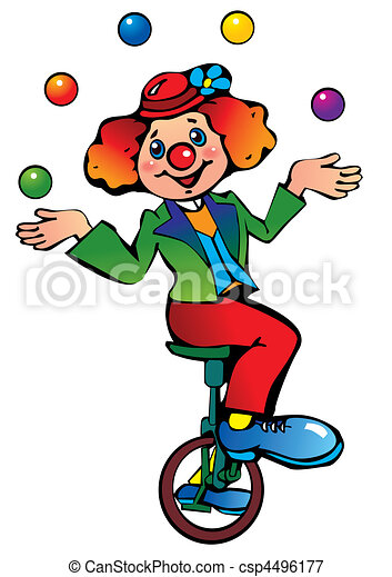 funny clown juggler vector art illustration on a white vectors rh canstockphoto com free animated juggler clipart