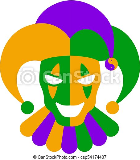 funny clown mask for mardi gras vector illustrations vector clipart rh canstockphoto com mardi gras vector border mardi gras vector free download