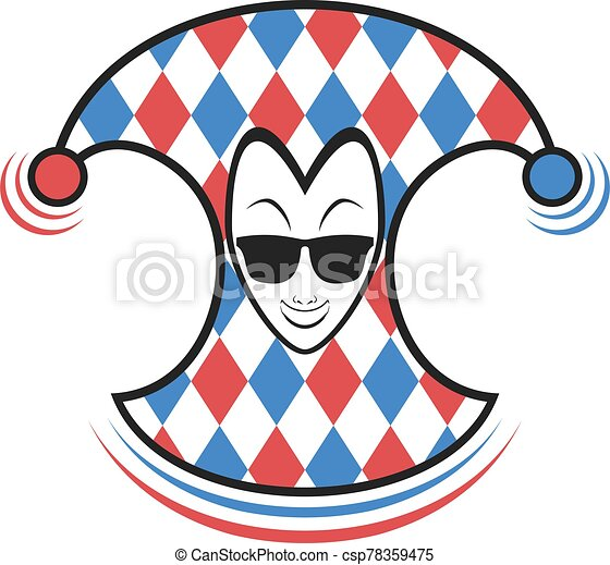 funny clown with sunglasses - csp78359475