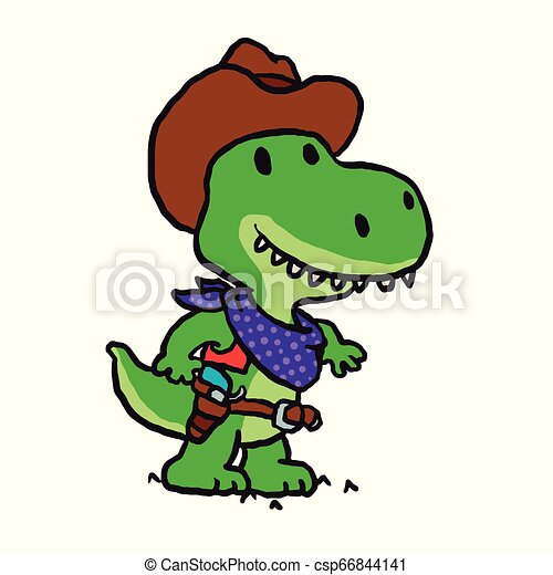 Funny cowboy sheriff cartoon - csp66844141