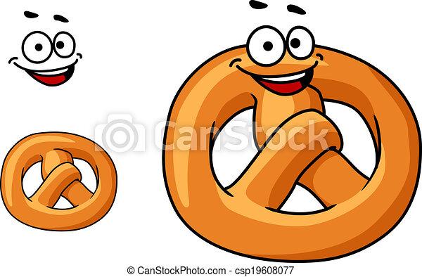 Funny crispy pretzel - csp19608077