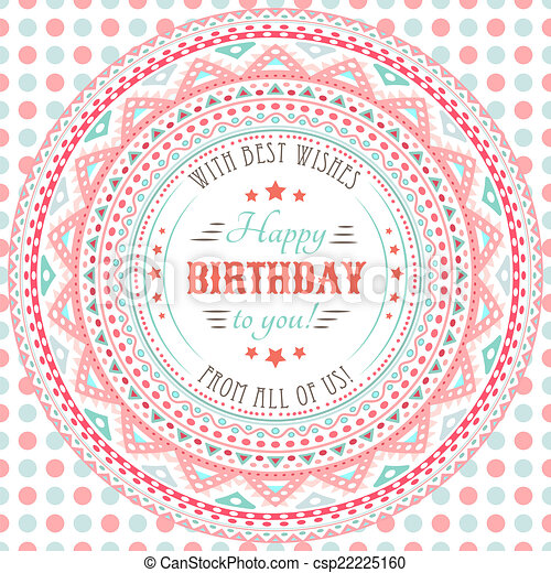Funny Cute Happy Birthday Card Typography Letters Font Type Vector