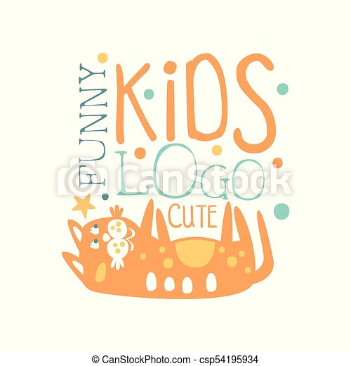 Funny Cute Kids Logo Baby Shop Label Fashion Print For Kids Wear