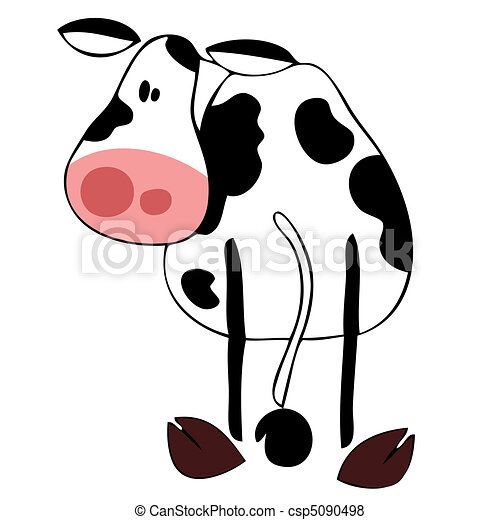 Funny dairy cow. - csp5090498