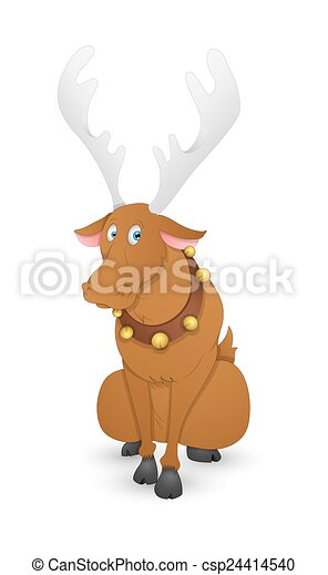 funny dasher christmas reindeer cartoon scared xmas dasher reindeer