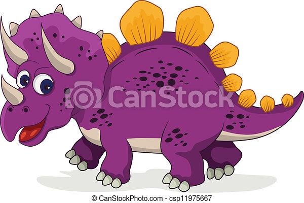 funny dinosaur cartoon - csp11975667