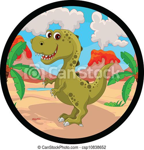 funny dinosaur cartoon - csp10838652