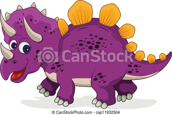 funny dinosaur cartoon - csp11932504