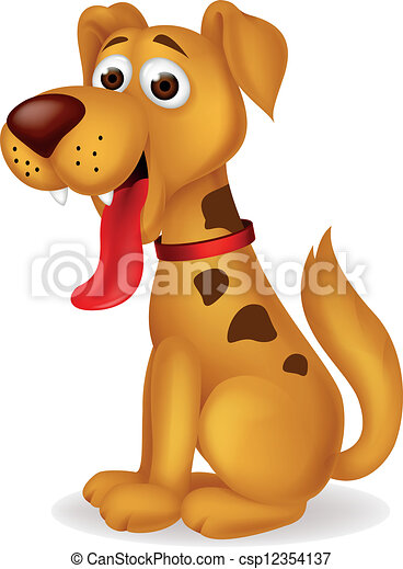 Funny dog cartoon - csp12354137