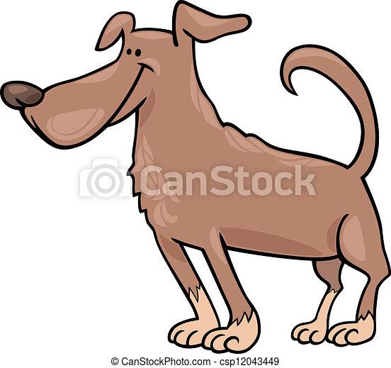 funny dog cartoon illustration - csp12043449
