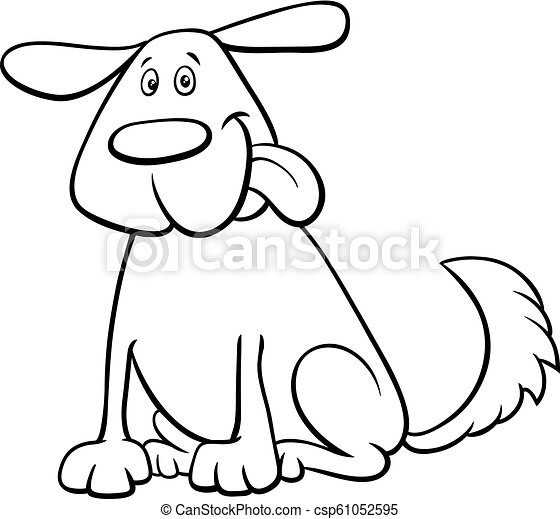 - Funny Dog Pet Cartoon Character Color Book. Black And White Cartoon  Illustration Of Funny Dog Pet Animal Character Coloring CanStock