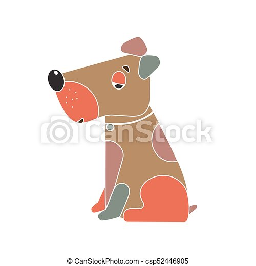Funny Dog Symbol Of The Chinese New Year Funny Dog Symbol Vector