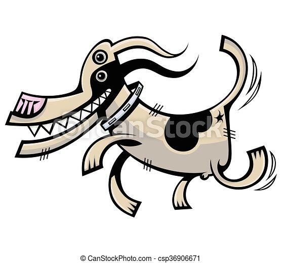 Funny dog. Vector illustration - csp36906671