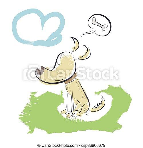Funny dog. Vector illustration - csp36906679